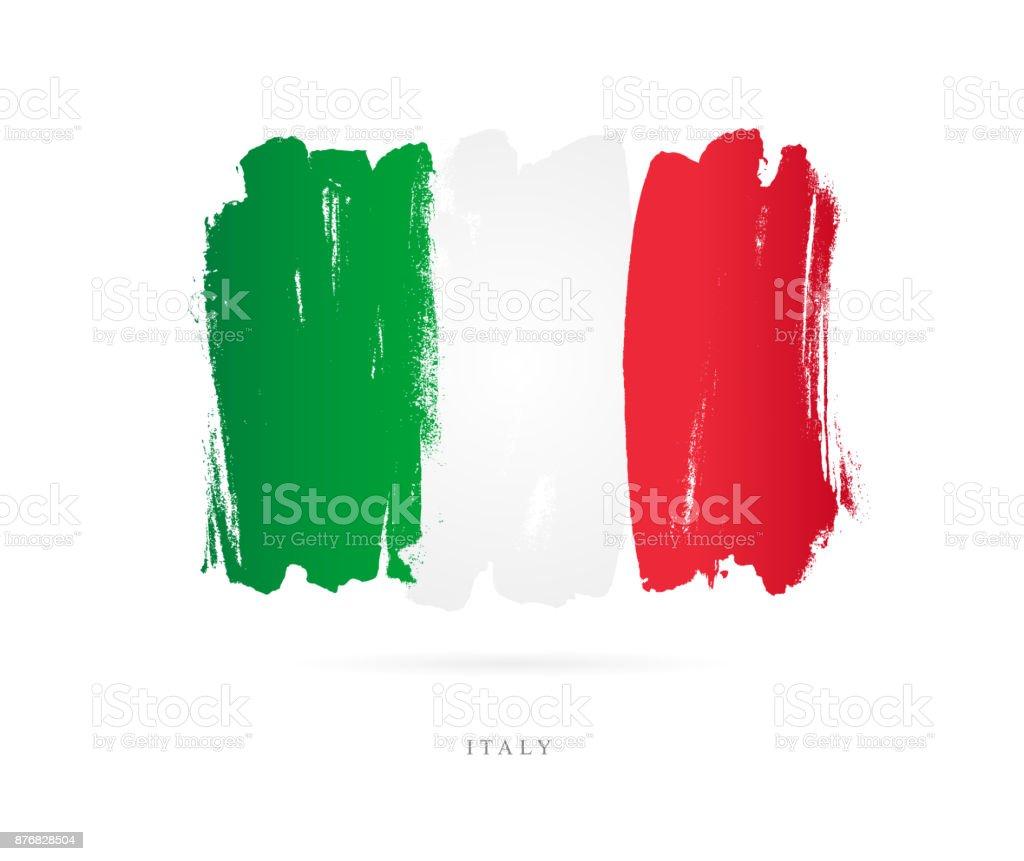 Italya Bayrağı Vektör çizim Stok Vektör Sanatı Akdeniz Kültürünin