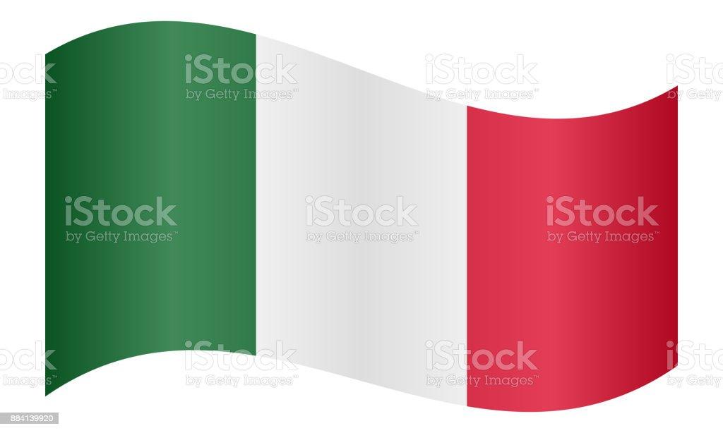 Bandera de Italia ondeando - ilustración de arte vectorial