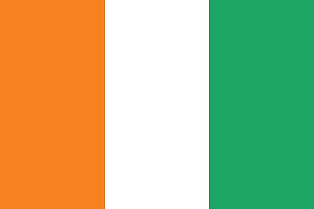 Flag of Ivory Coast Proportion 2:3, Flag of Ivory Coast côte d'ivoire stock illustrations