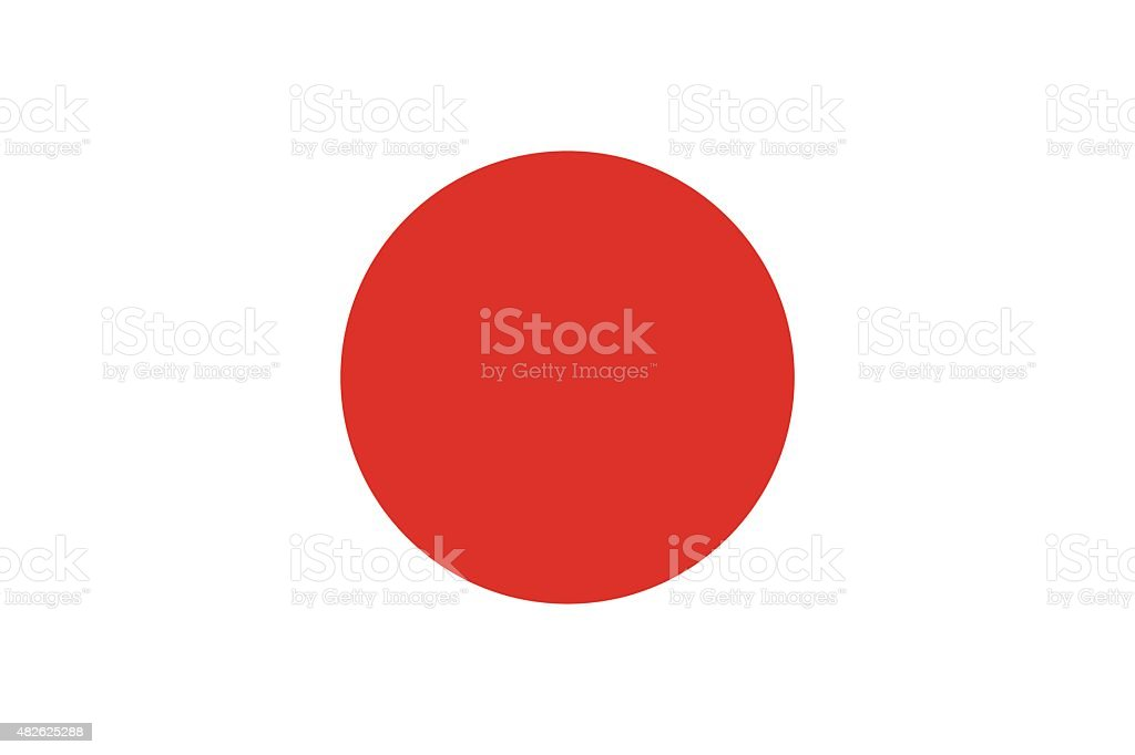 Flag of Japan vector art illustration