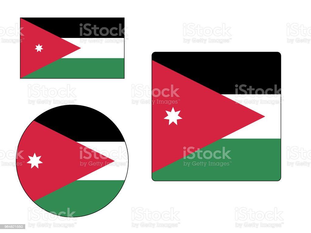 Flag of Jordan Set royalty-free flag of jordan set stock vector art & more images of circle