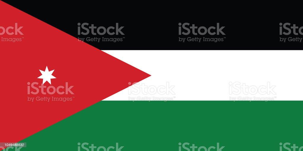 flag of jordan vector illustration stock vector art more images of