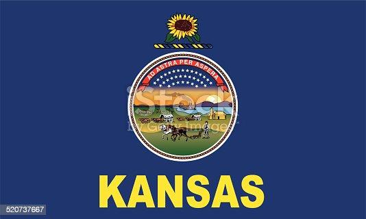 istock Flag of Kansas 520737667