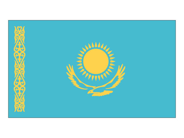 Flag of Kazakhstan Vector illustration of flag of Kazakhstan kazakhstan stock illustrations
