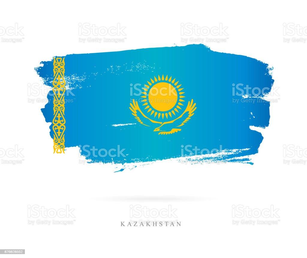 Flag of Kazakhstan. Vector illustration vector art illustration