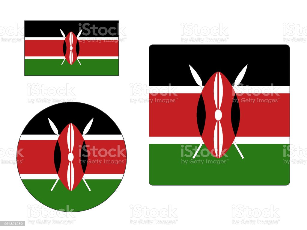 Flag of Kenya Set royalty-free flag of kenya set stock vector art & more images of flag