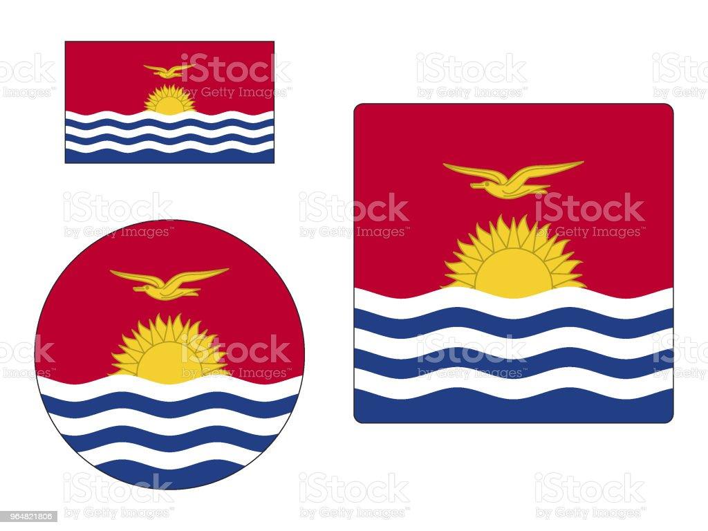 Flag of Kiribati Set royalty-free flag of kiribati set stock vector art & more images of cut out