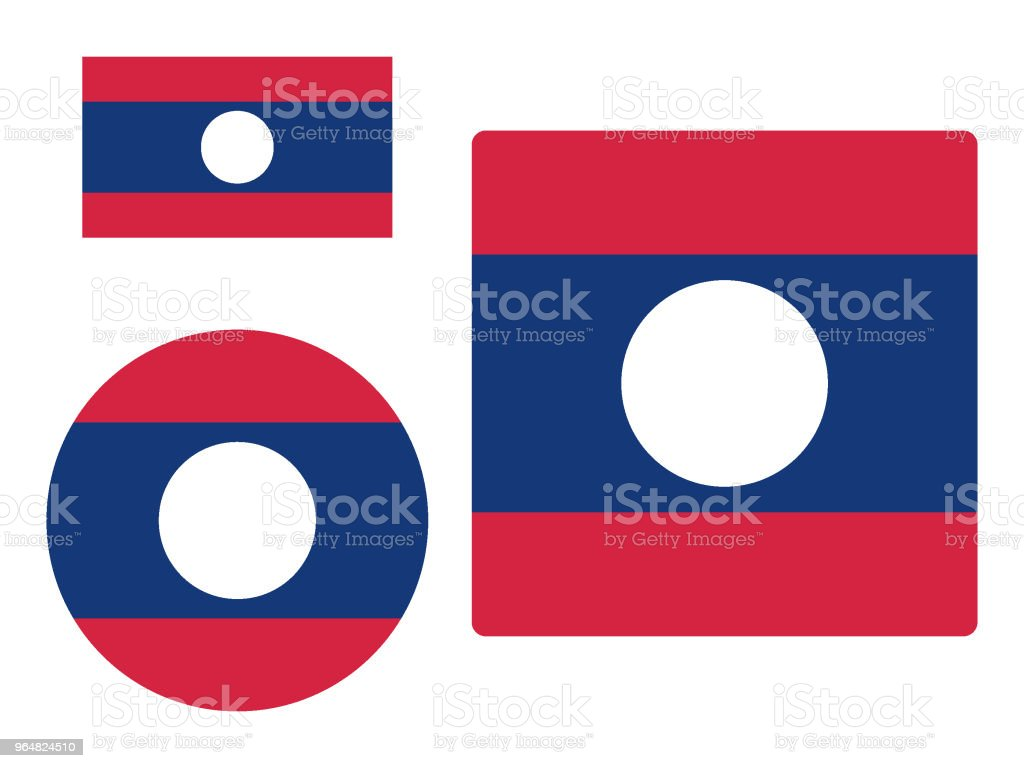 Flag of Laos Set royalty-free flag of laos set stock vector art & more images of asia