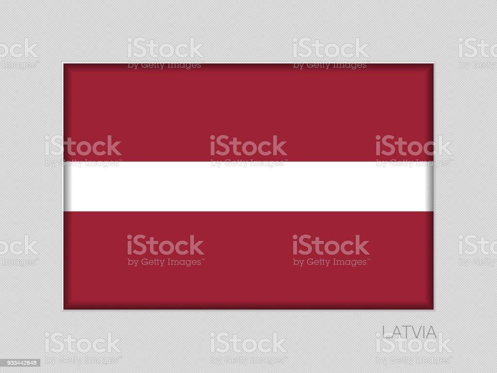 ilustração de bandeira da letónia relação de aspecto de alferes