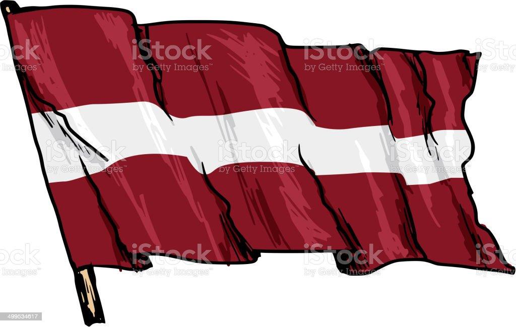 ラトビア国旗 - イラストレーシ...