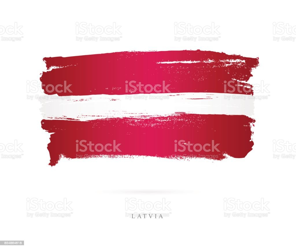 Flag of Latvia. Vector illustration royalty-free flag of latvia vector illustration stock illustration - download image now