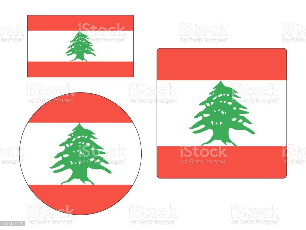 Flag of Lebanon Set royalty-free flag of lebanon set stock vector art & more images of circle