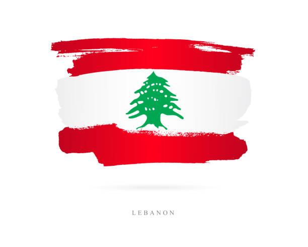 flag of lebanon. vector illustration - lebanon stock illustrations