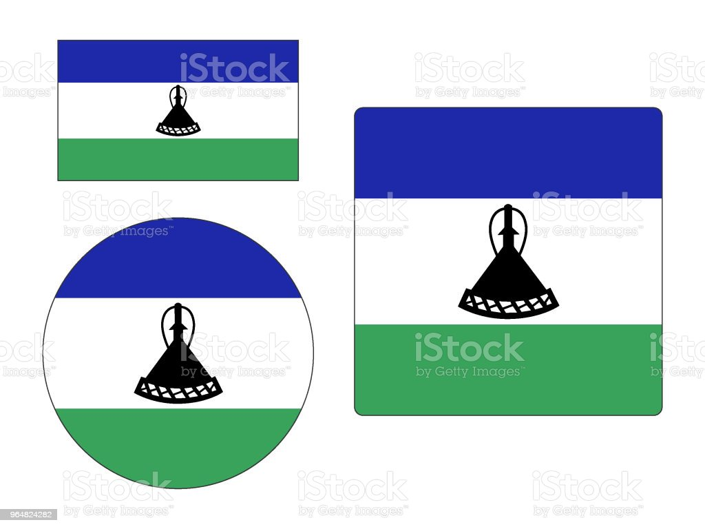 Flag of Lesotho Set royalty-free flag of lesotho set stock vector art & more images of africa