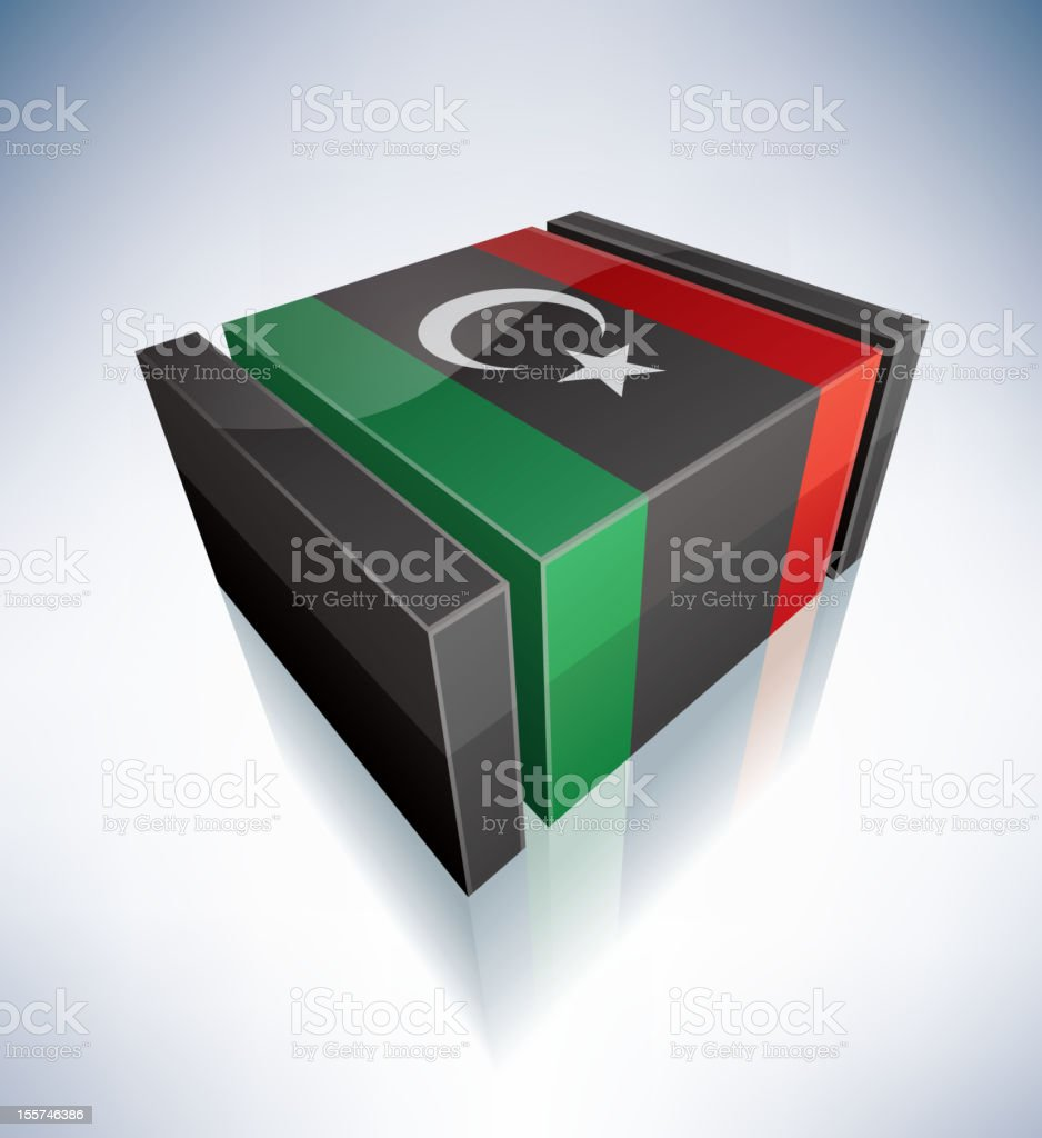 3D flag of Libya royalty-free 3d flag of libya stock vector art & more images of africa