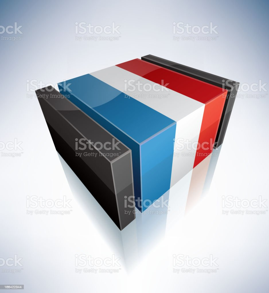 3D flag of Luxembourg royalty-free stock vector art