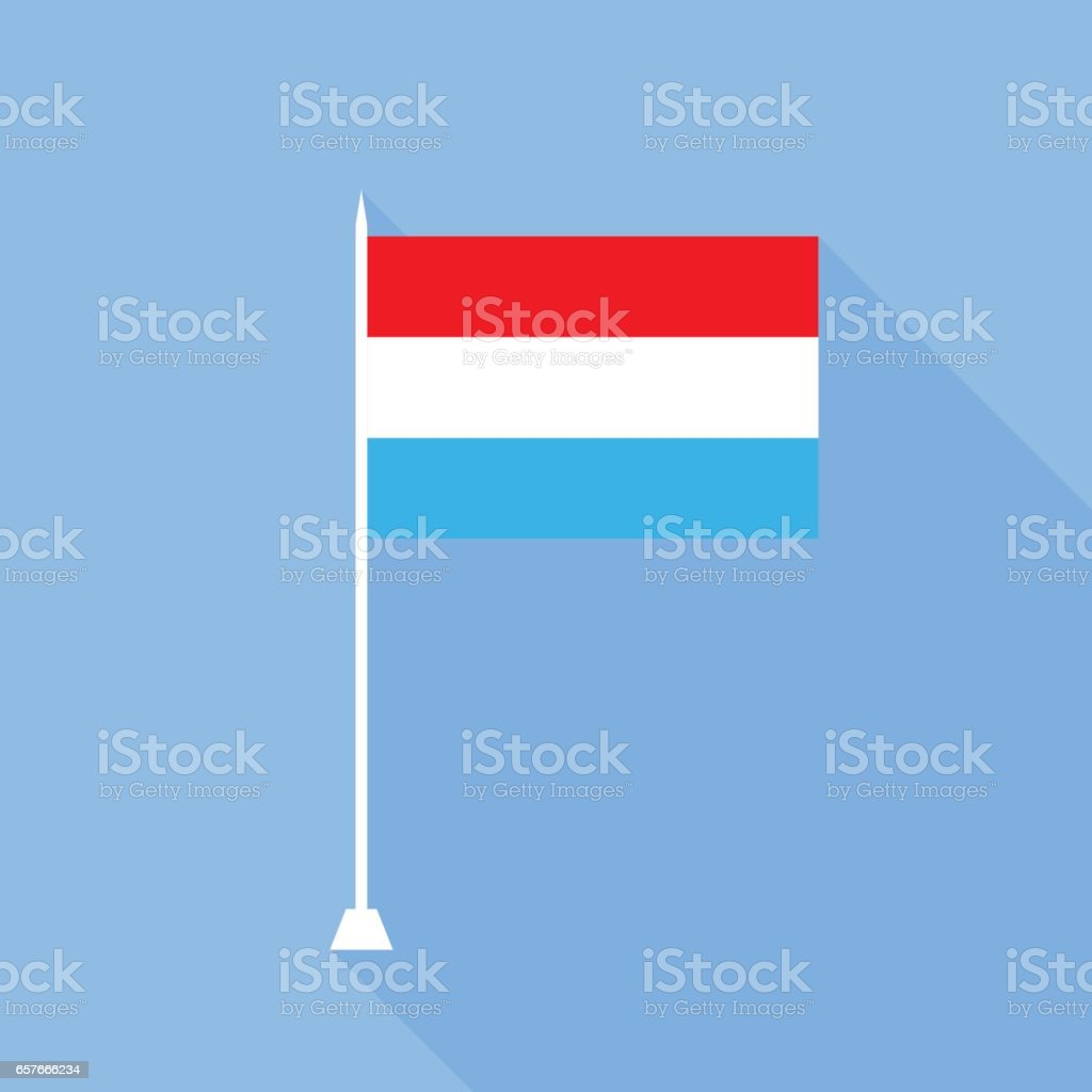 Flag of Luxembourg. vector art illustration