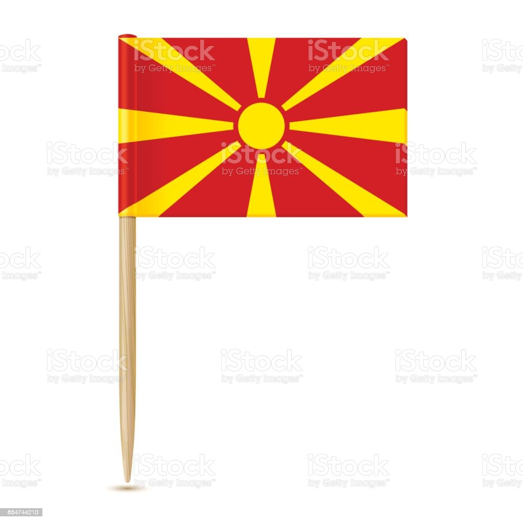 Flag of Macedonia. Flag toothpick 10eps vector art illustration
