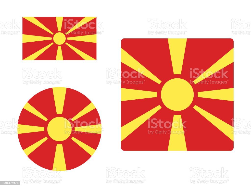 Flag of Macedonia Set vector art illustration