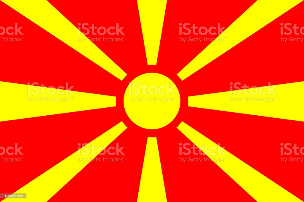 Flag of Macedonia vector art illustration