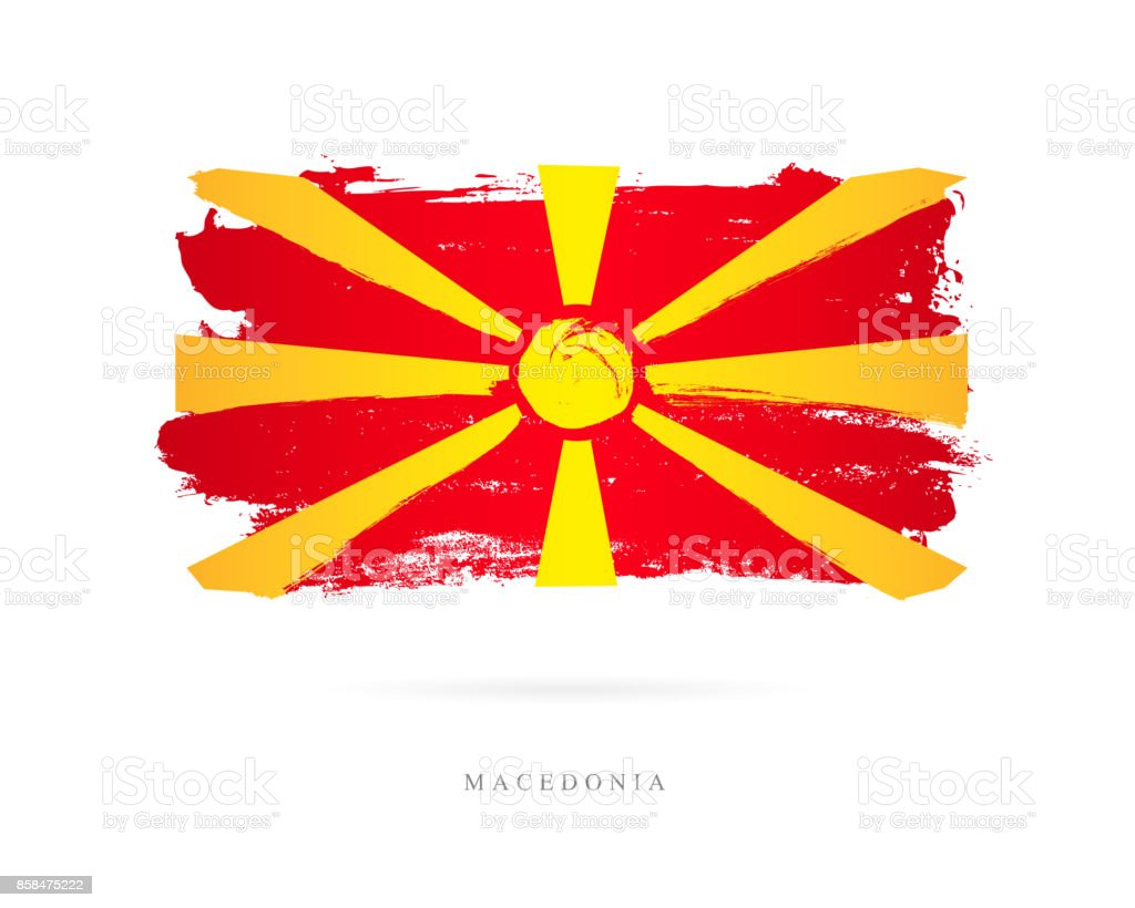 Flag of Macedonia. Vector illustration vector art illustration