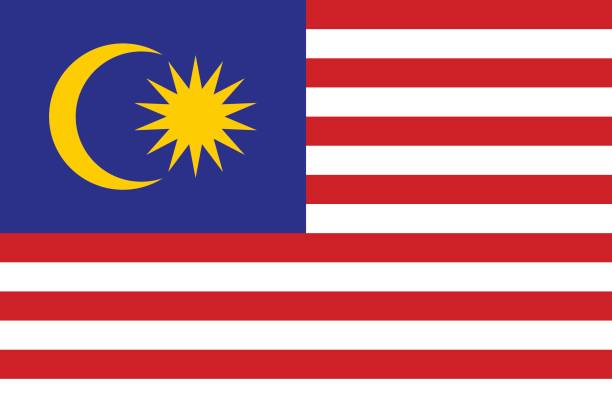 ilustrações, clipart, desenhos animados e ícones de bandeira da malásia  - malásia