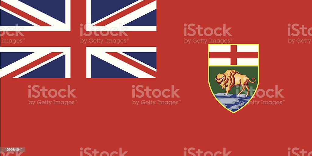 Flag of Manitoba royalty-free stock vector art