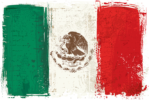 Flag of Mexico on Wall