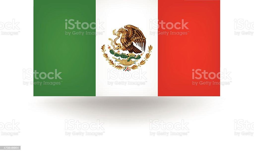 Bandera de México - ilustración de arte vectorial