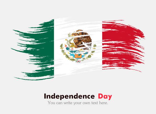 Flag of Mexico vector art illustration