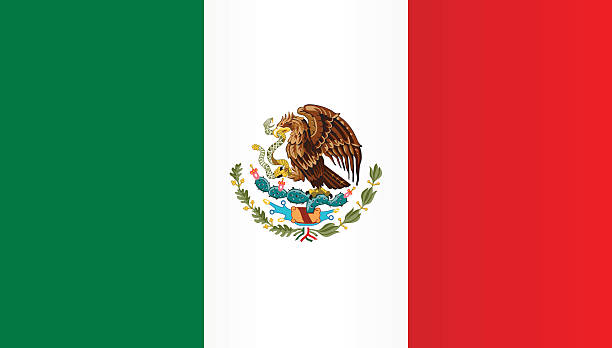 Flag of Mexico Flag of Mexico mexico stock illustrations