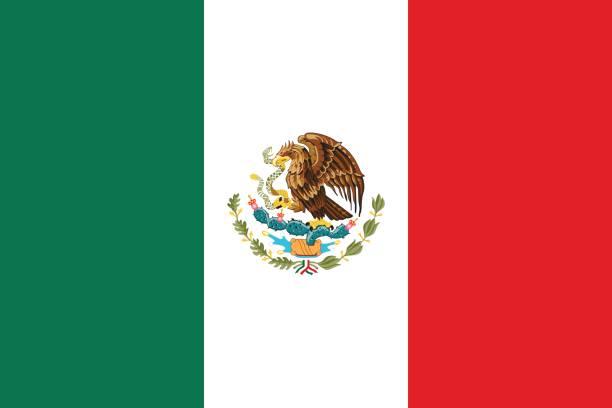 Flag of Mexico. vector art illustration