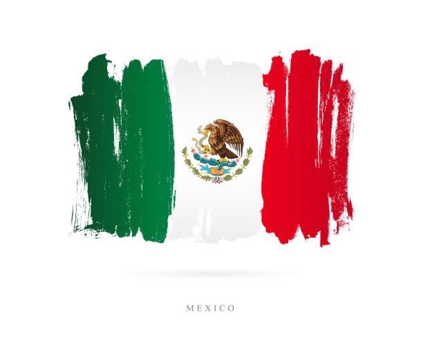 Bandeira do México. Ilustração vetorial - ilustração de arte em vetor