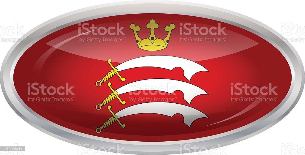 Flag of Middlesex vector art illustration