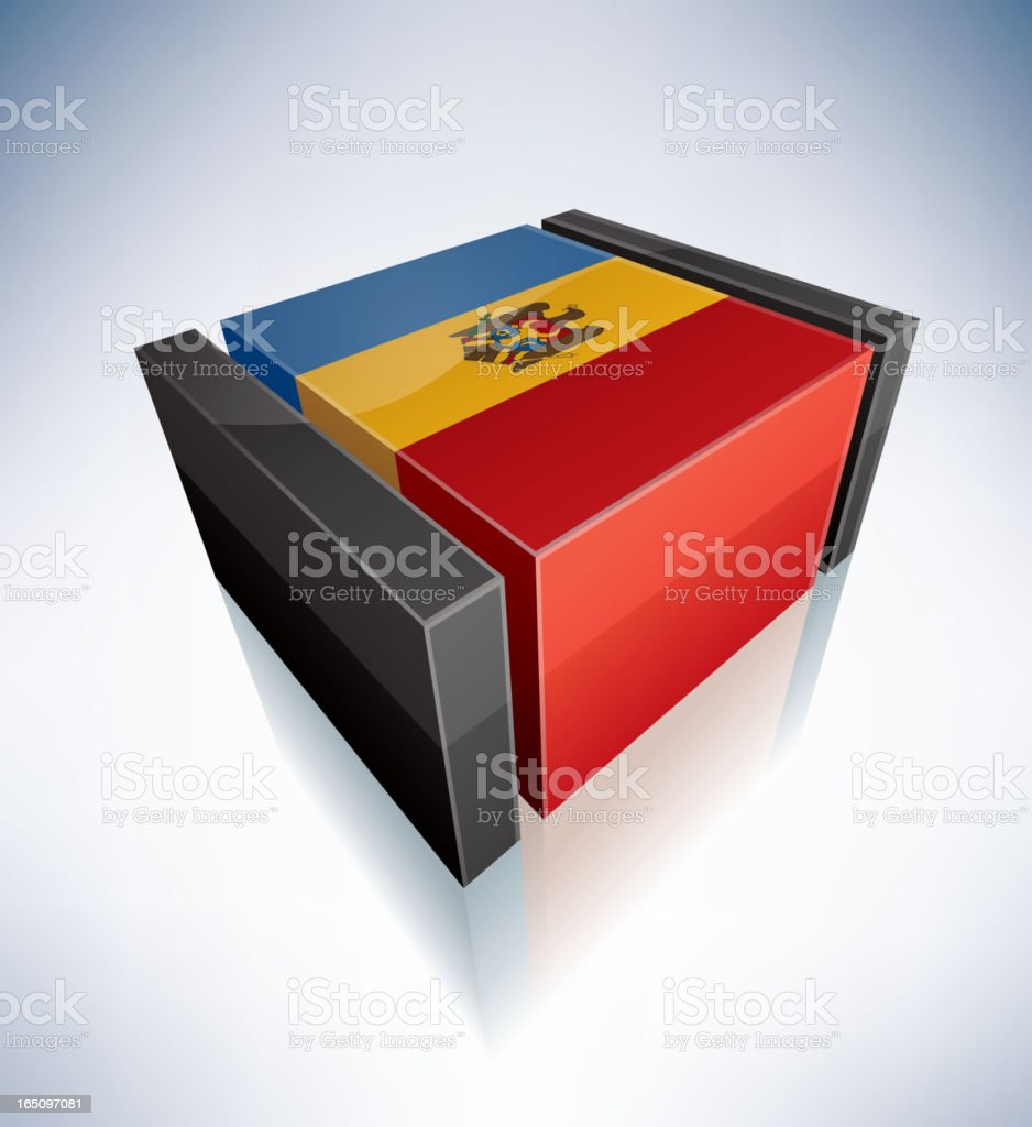 3D flag of Moldova royalty-free 3d flag of moldova stock vector art & more images of black color