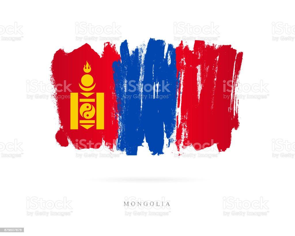 Flag of Mongolia. Vector illustration vector art illustration