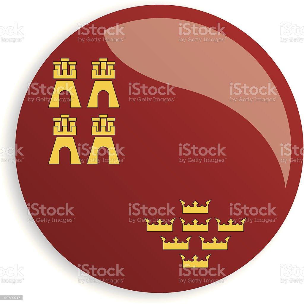 flag of Murcia royalty-free stock vector art