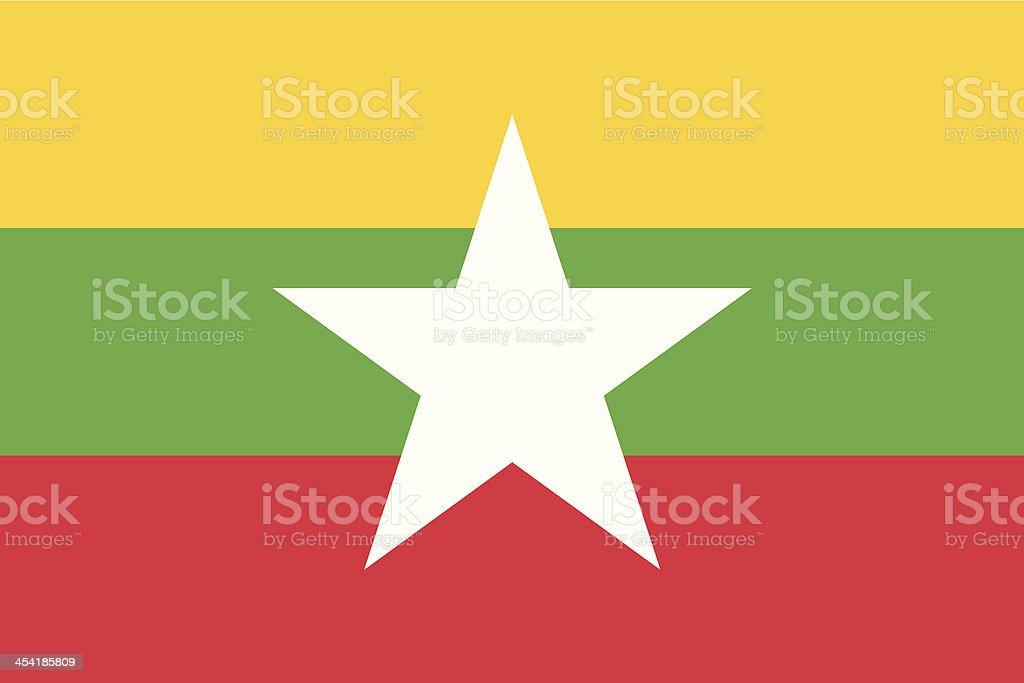 Flag of Myanmar vector art illustration