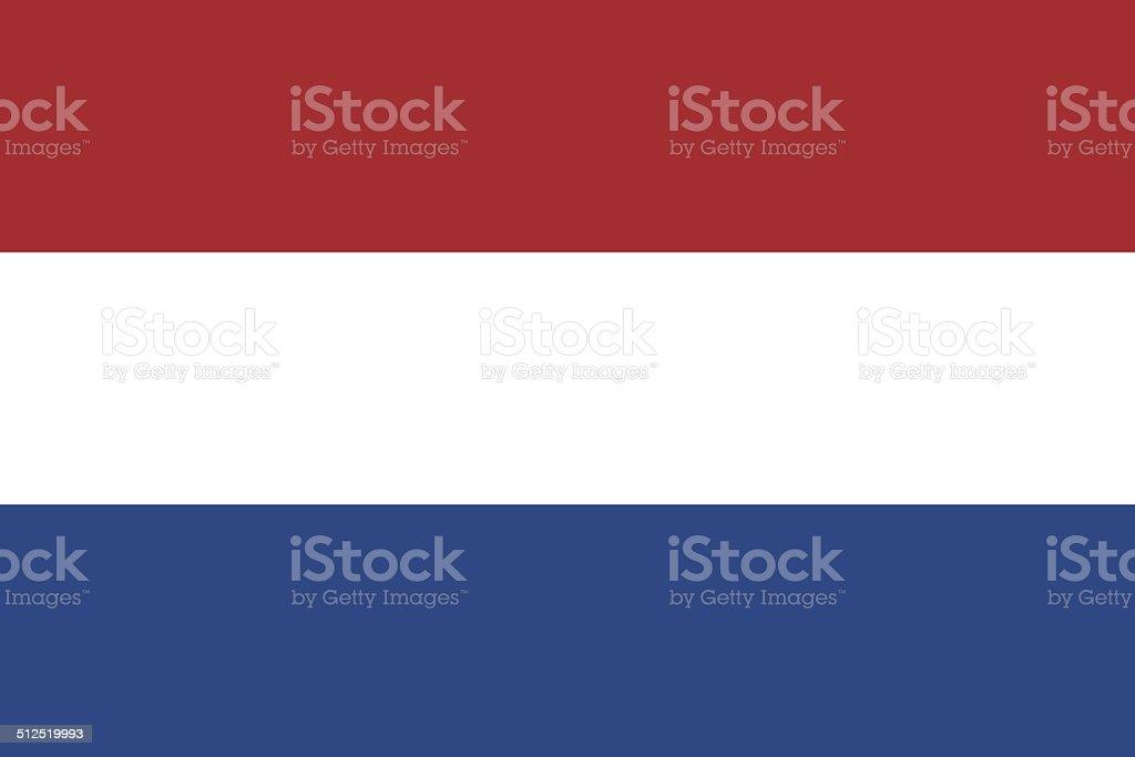 Flag of Netherlands vector art illustration