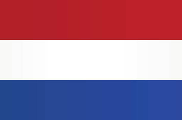 flag of netherlands - hollanda stock illustrations