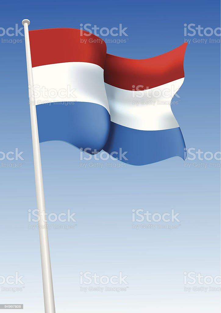 Flag of Netherlands royalty-free stock vector art