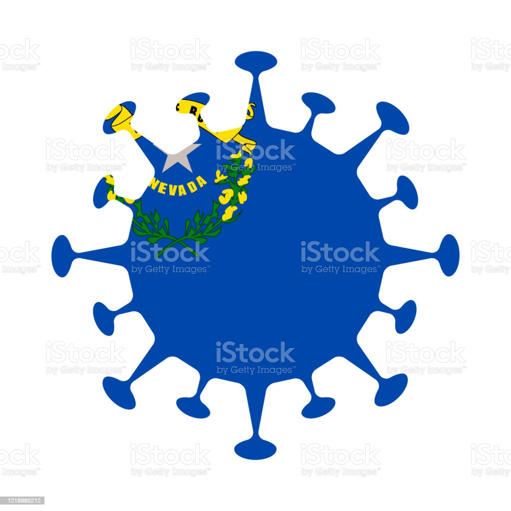 Flag Of Nevada In Virus Shape Stock Illustration Download Image Now Istock