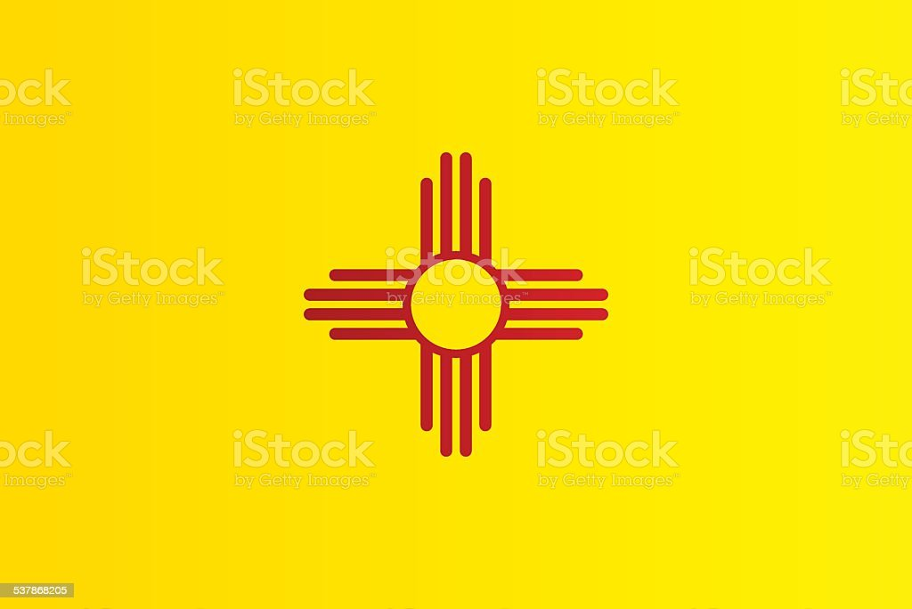 Flag of New Mexico vector art illustration