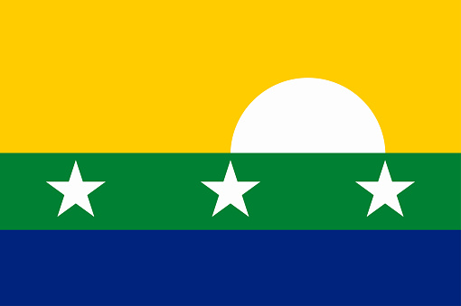 Flag of New Sparta State in Bolivarian Republic of Venezuela