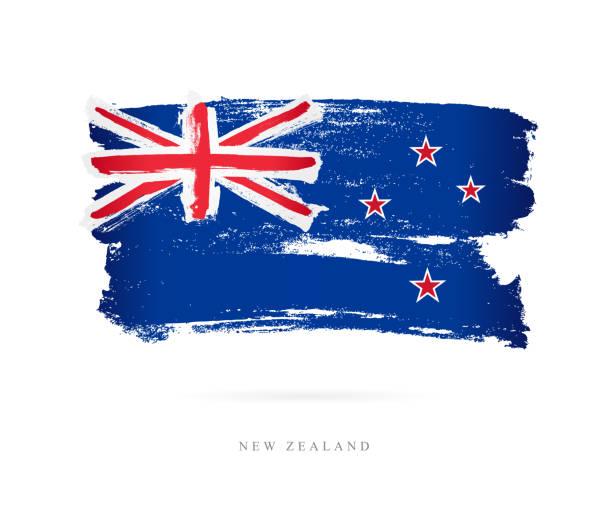 Flagge von Neuseeland. Vektor-illustration – Vektorgrafik