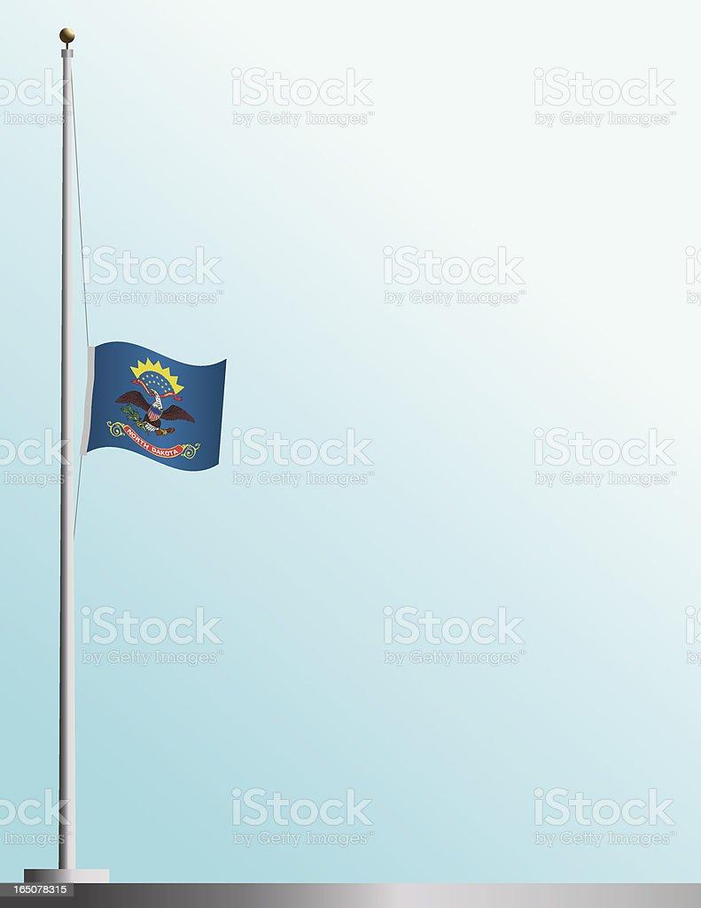 Flag of North Dakota at Half-Staff royalty-free stock vector art
