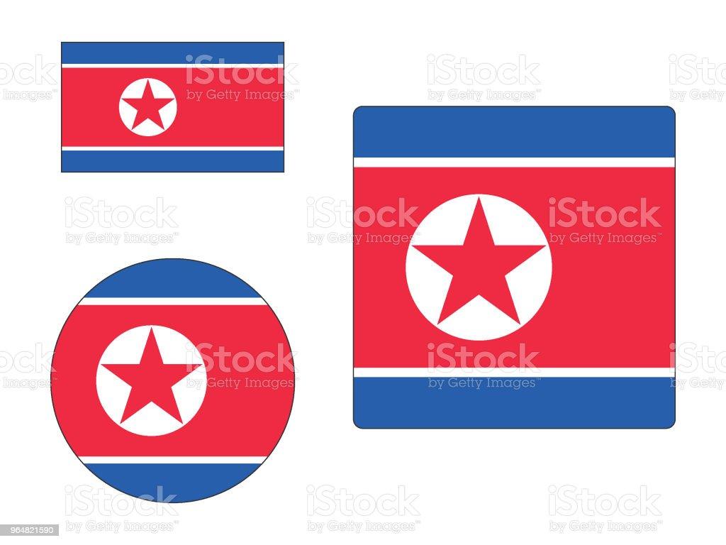 Flag of North Korea Set royalty-free flag of north korea set stock vector art & more images of circle