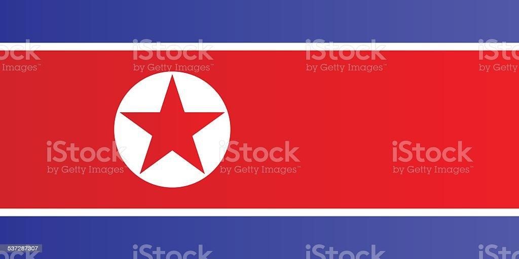 Flag of North Korea vector art illustration