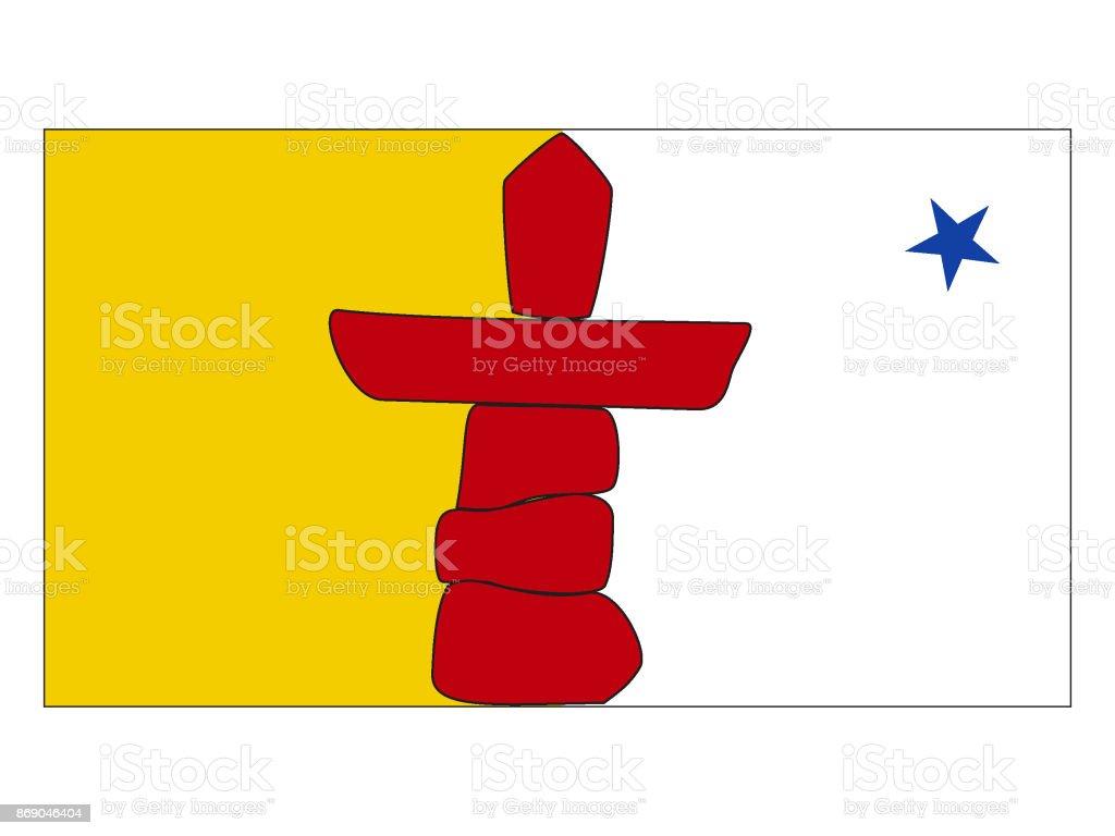 Flag of Nunavut vector art illustration