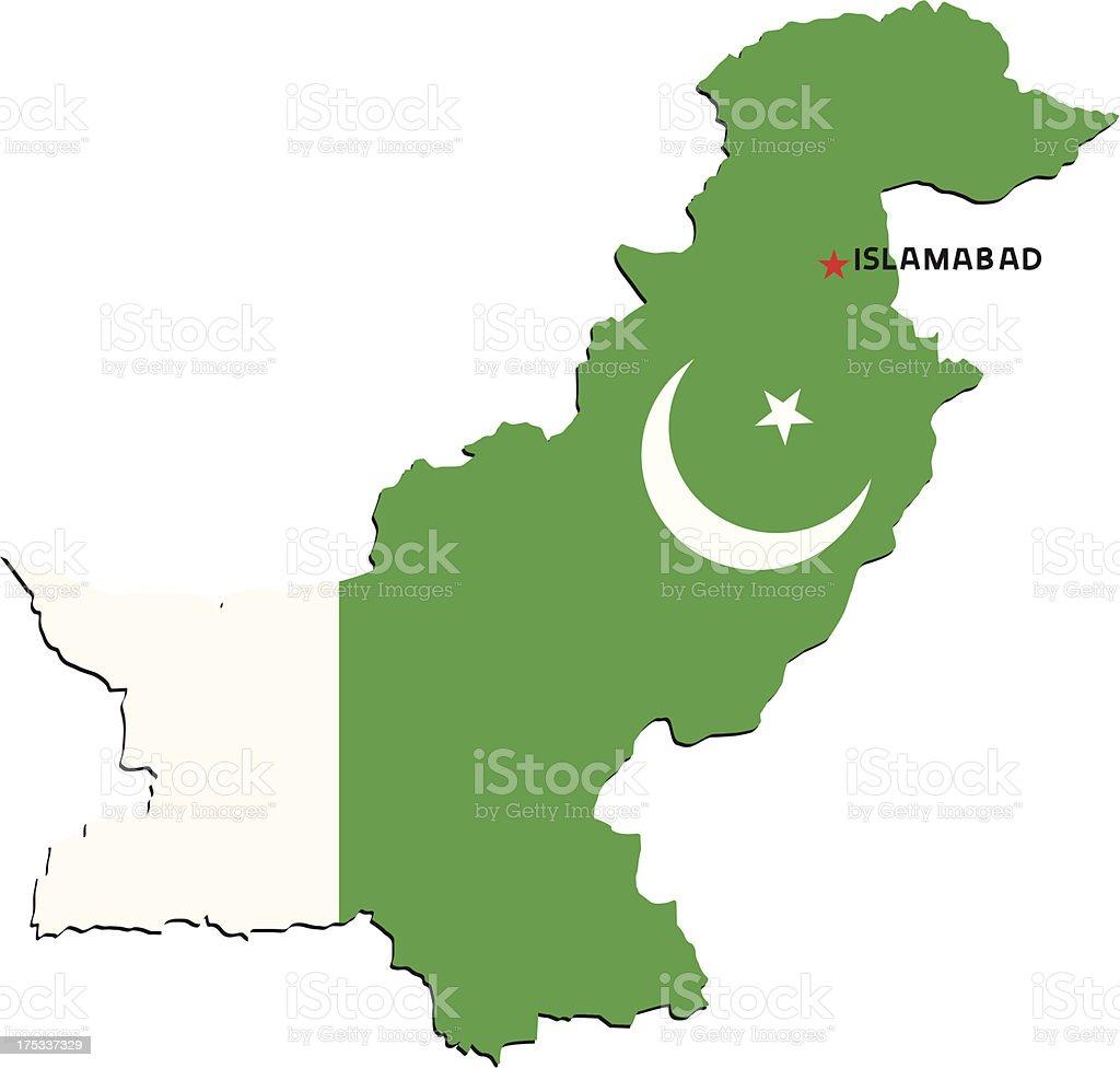 Flag Of Pakistan royalty-free stock vector art